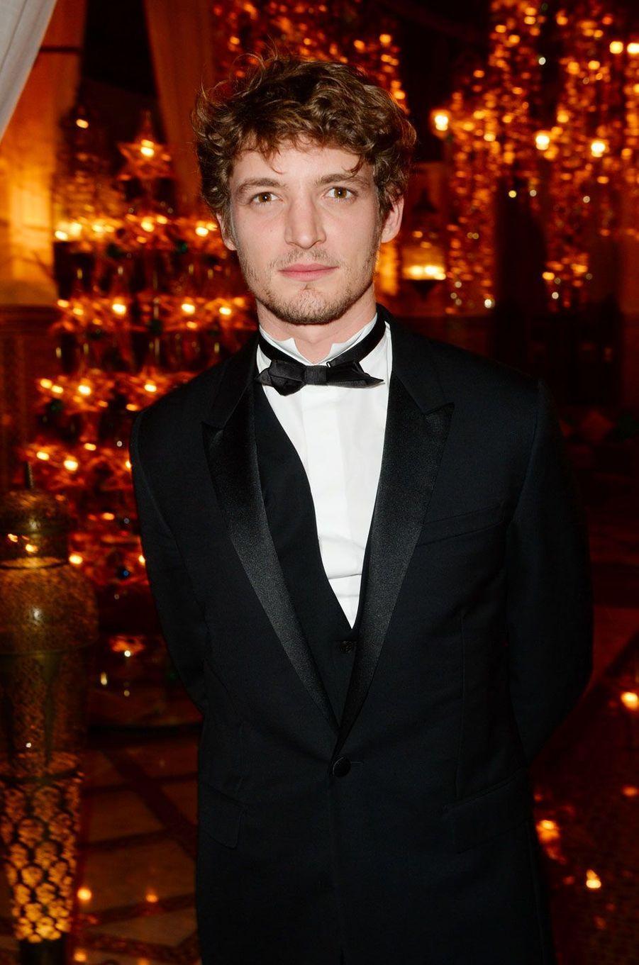 Niels Schneider au dîner Dior à l'hôtel Royal Mansour lors du 15ème festival international du film de Marrakech, le 11 décembre 2015.
