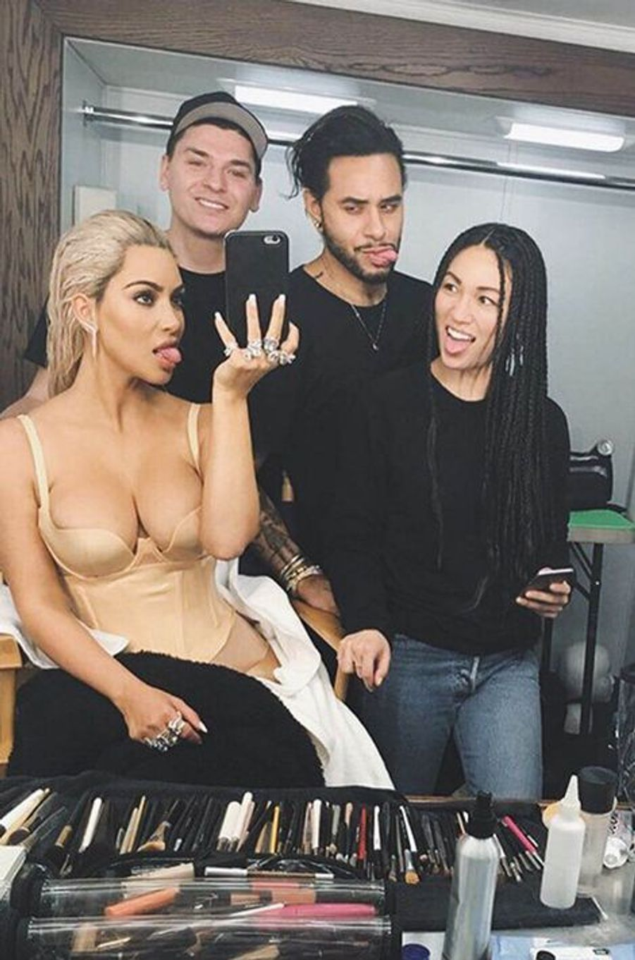 Stephanie Sheperd, Kim Kardashian et le staff beauté de la star