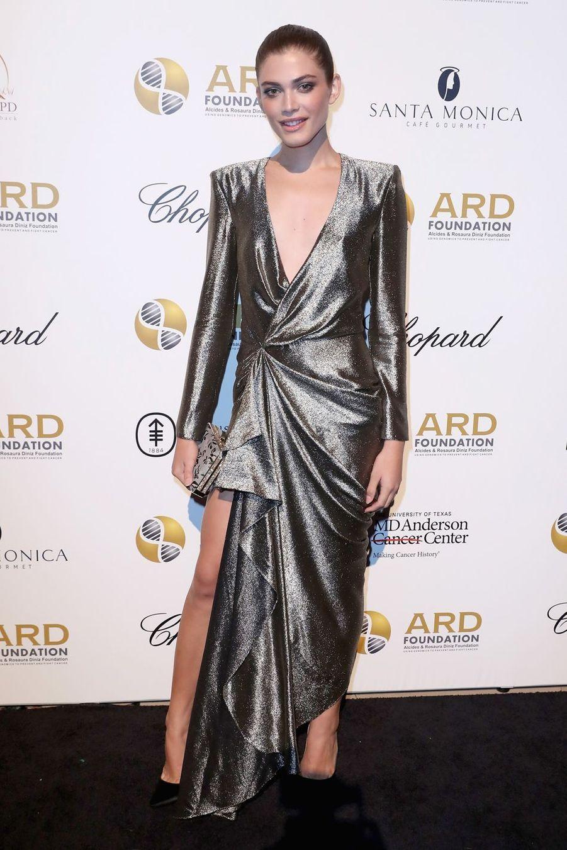 Valentina Sampaio lors d'un gala de charité à New York en septembre 2017.