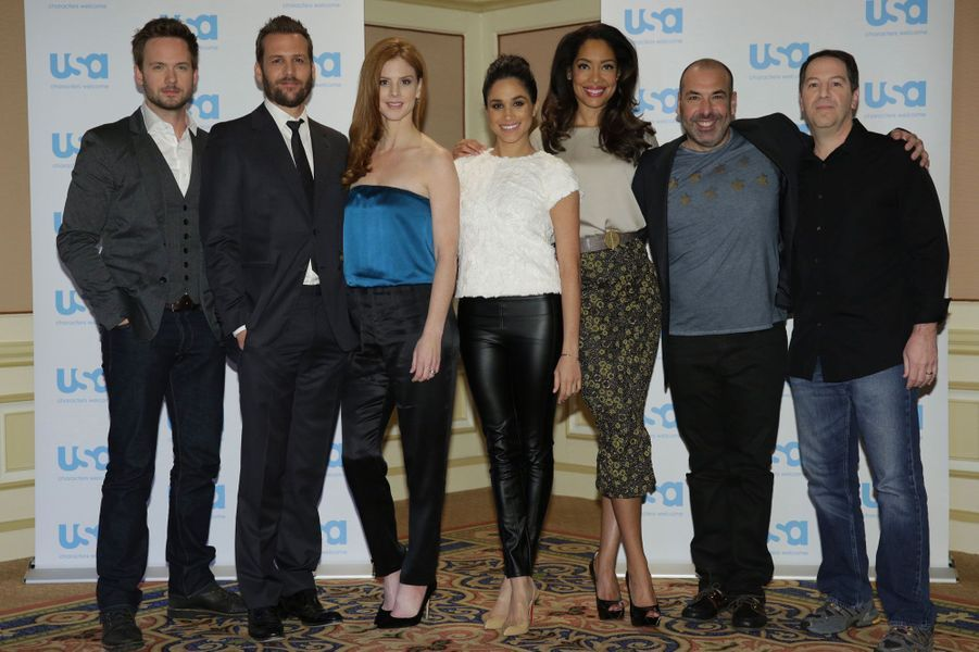 Le casting de Suits au NBC Universal Press Tour en janvier 2014