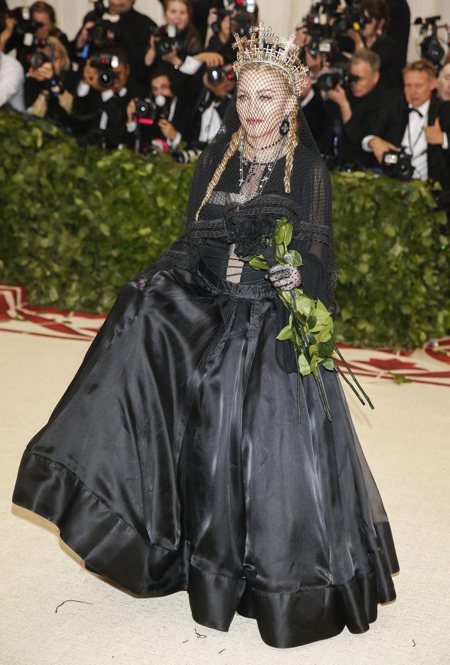 Madonna à New York, le 7 mai 2018