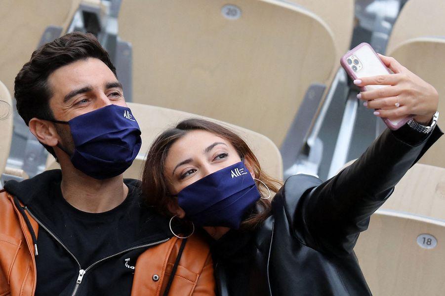 Valentin Leonard et Rachel Legrain-Trapani à Roland-Garros le 3 octobre 2020