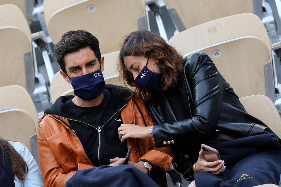 Valentin Leonard et Rachel Legrain-Trapanià Roland-Garros le 3 octobre 2020