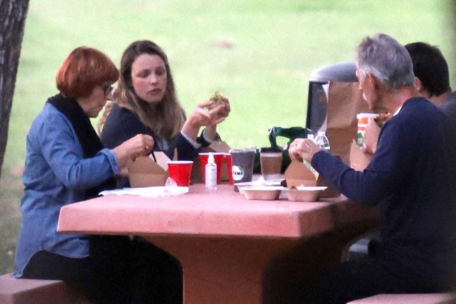 Rachel McAdams avec sa familleà Los Angeles le 19 septembre 2020
