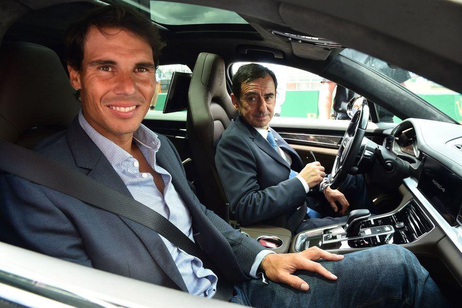 Rafael Nadal et Pierre Fillon au Mans.