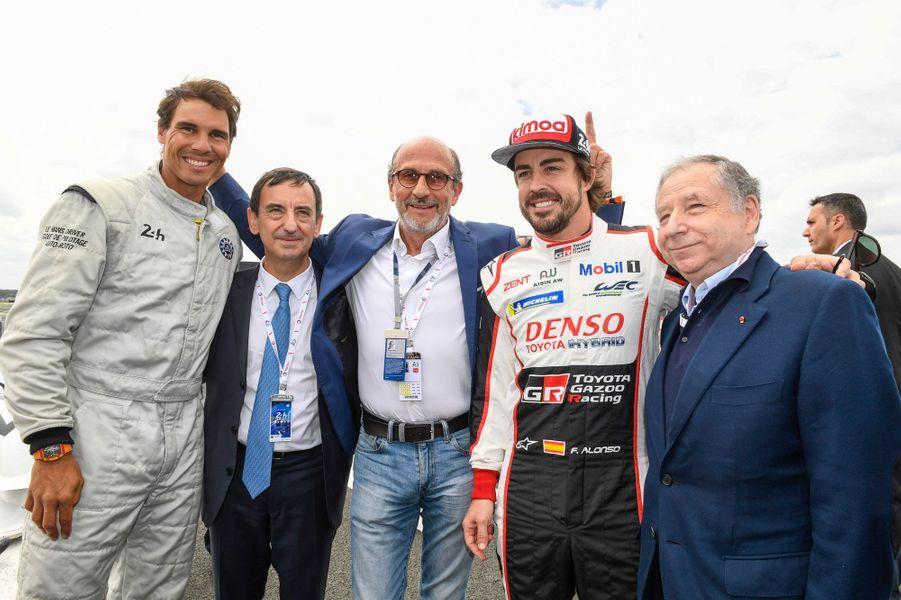 Rafael Nadal au Mans, notamment pour encourager Fernando Alonso