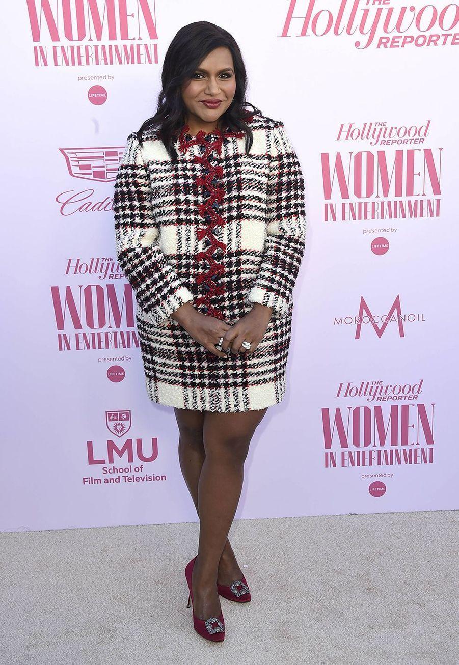 Mindy Kalingau gala «Hollywood Reporter's Women in Entertainment» à Los Angeles le 10 décembre 2019