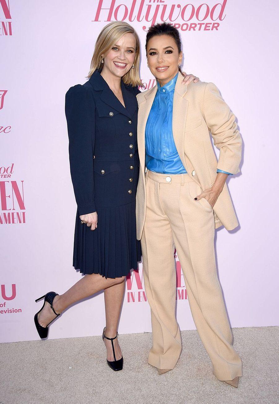 Reese Witherspoon et Eva Longoriaau gala «Hollywood Reporter's Women in Entertainment» à Los Angeles le 10 décembre 2019