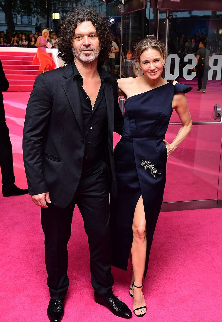 Renée Zellweger etDoyle Bramhall II à la première du film «Bridget Jones Baby» à Londres en 2016