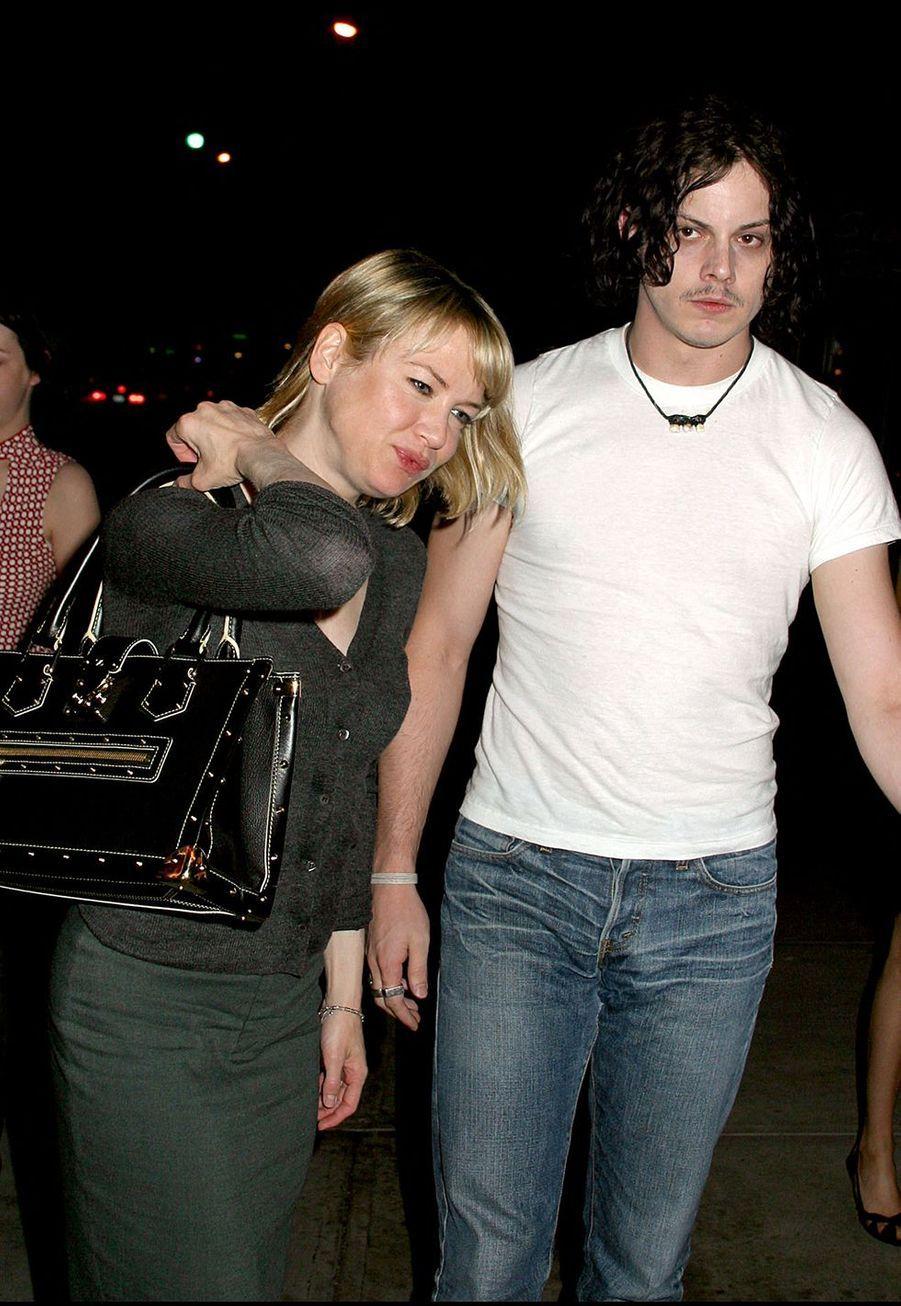 Renée Zellweger et Jack White en 2003 à New York
