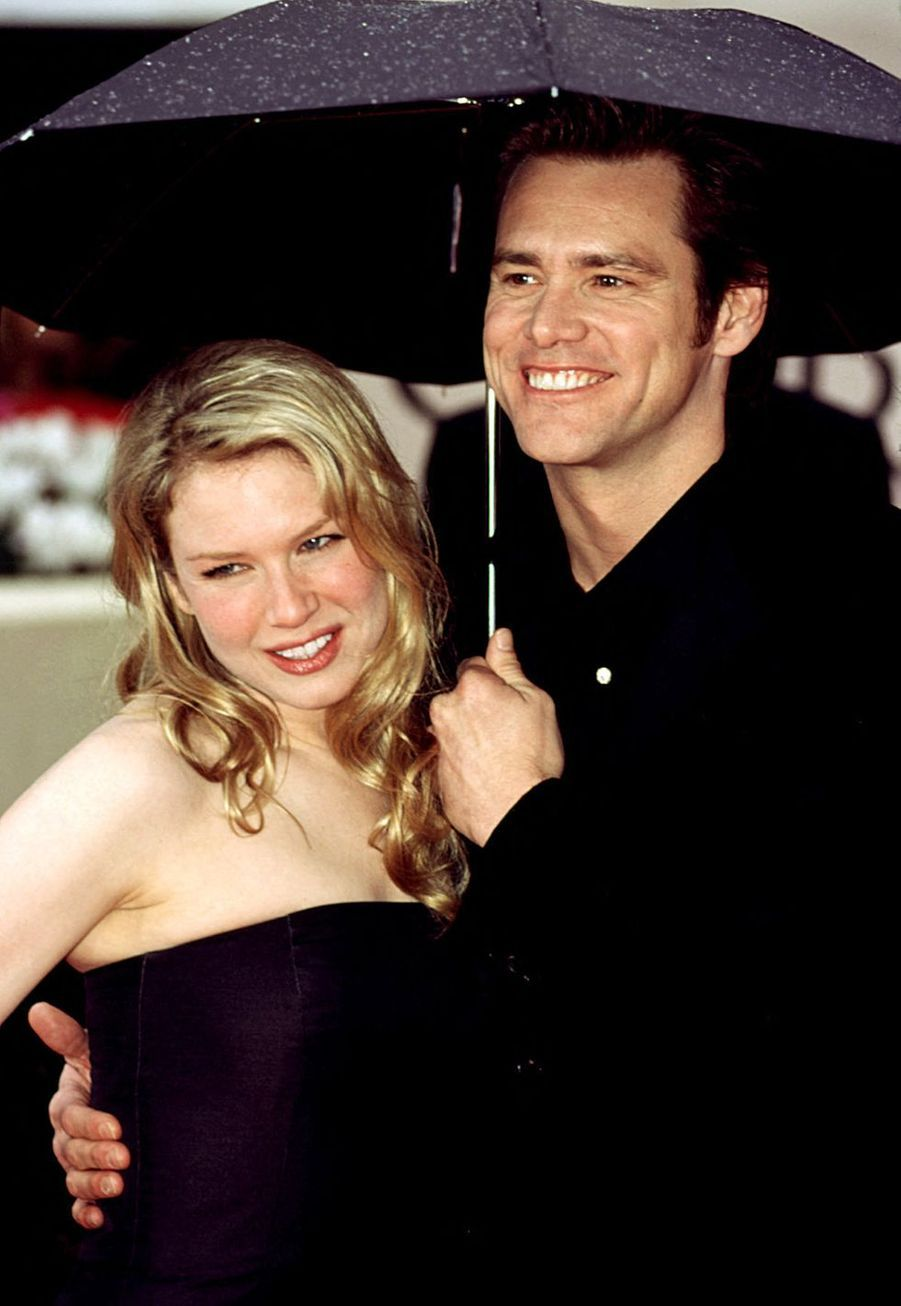 Renée Zellweger et Jim Carrey aux Golden Globes 2000