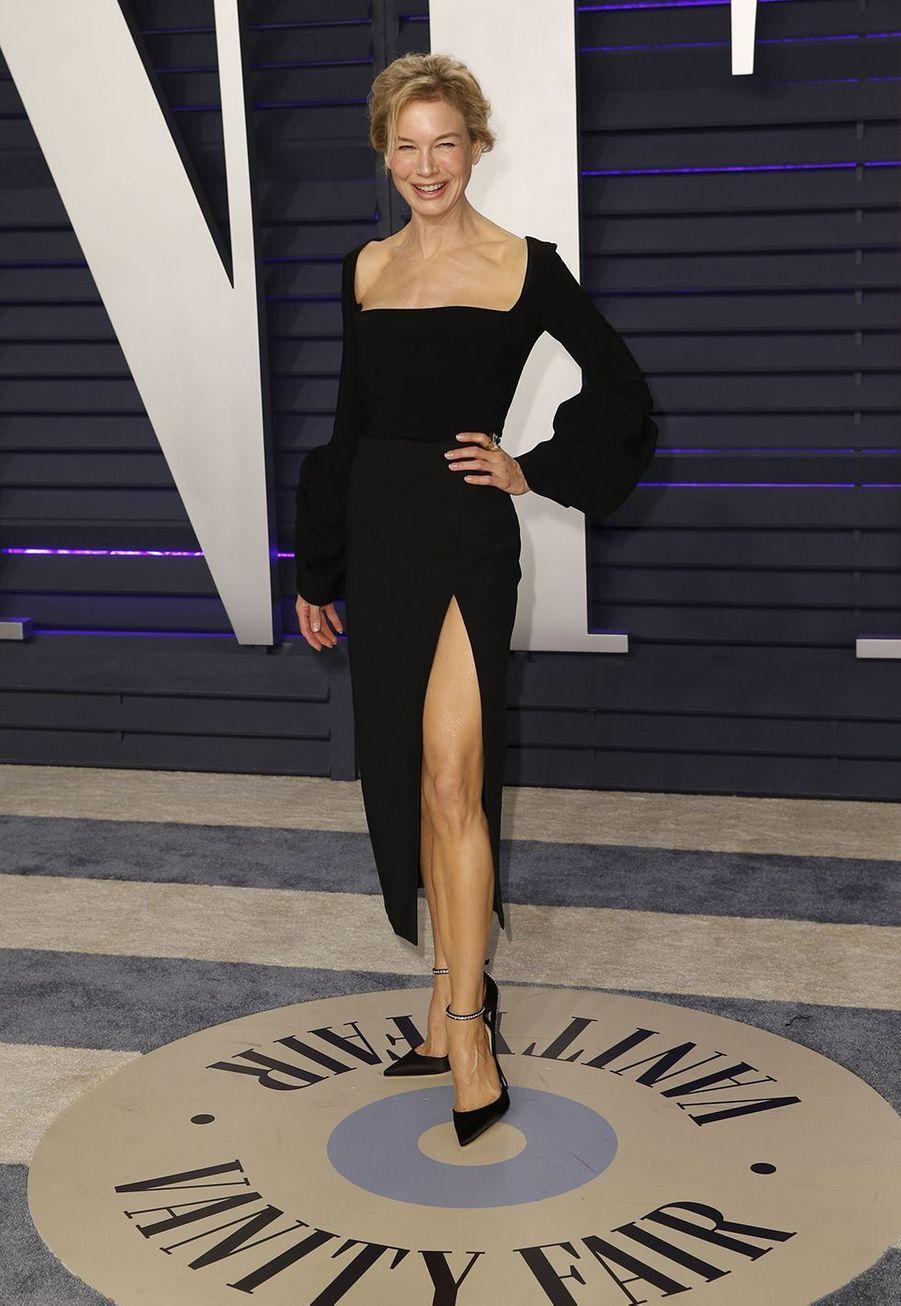Renée Zellweger à la soirée «Vanity Fair» des Oscars en février 2019 à Los Angeles