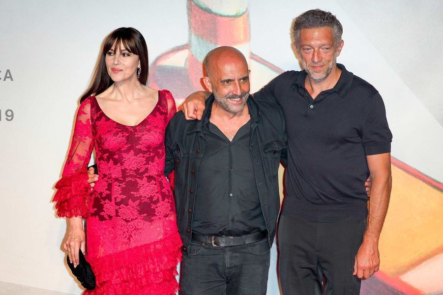 Monica Bellucci,Gaspar Noé etVincent Casselà Venise, le 31 août 2019.