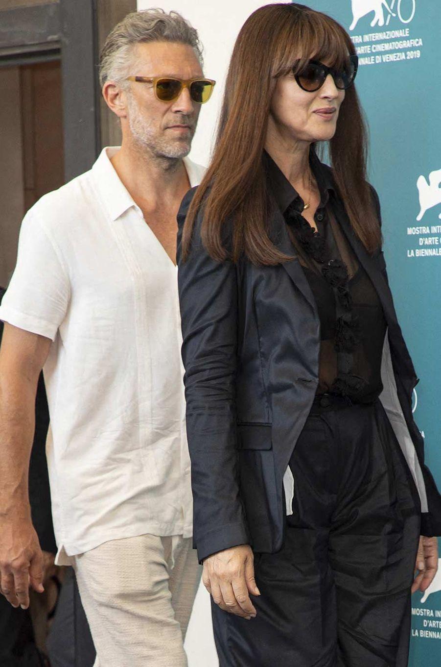 Monica Bellucci et Vincent Cassel à Venise, le 31 août 2019.