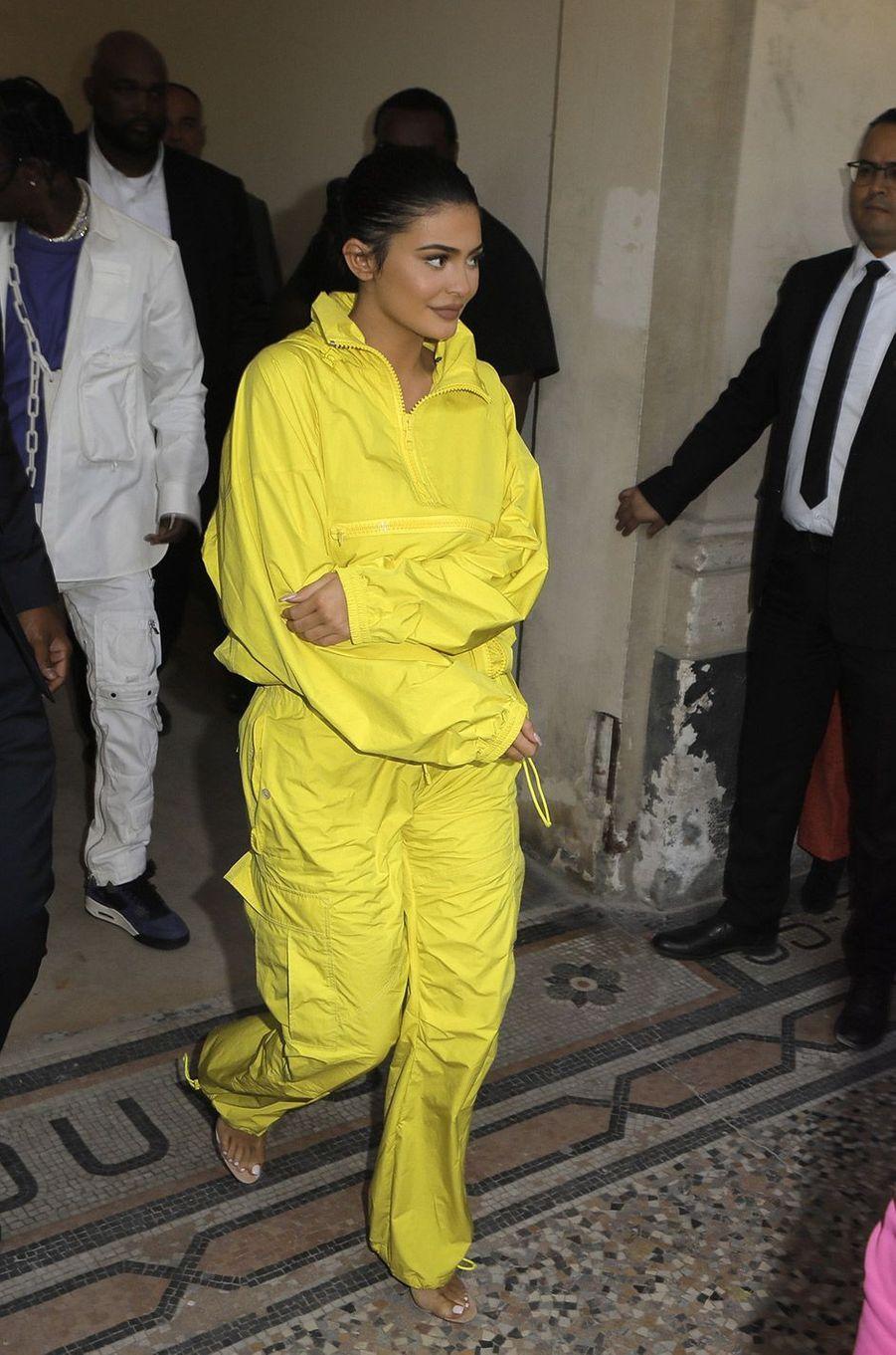Kylie Jenner et Travis Scott au défilé homme Louis Vuitton jeudi 21 juin à Paris