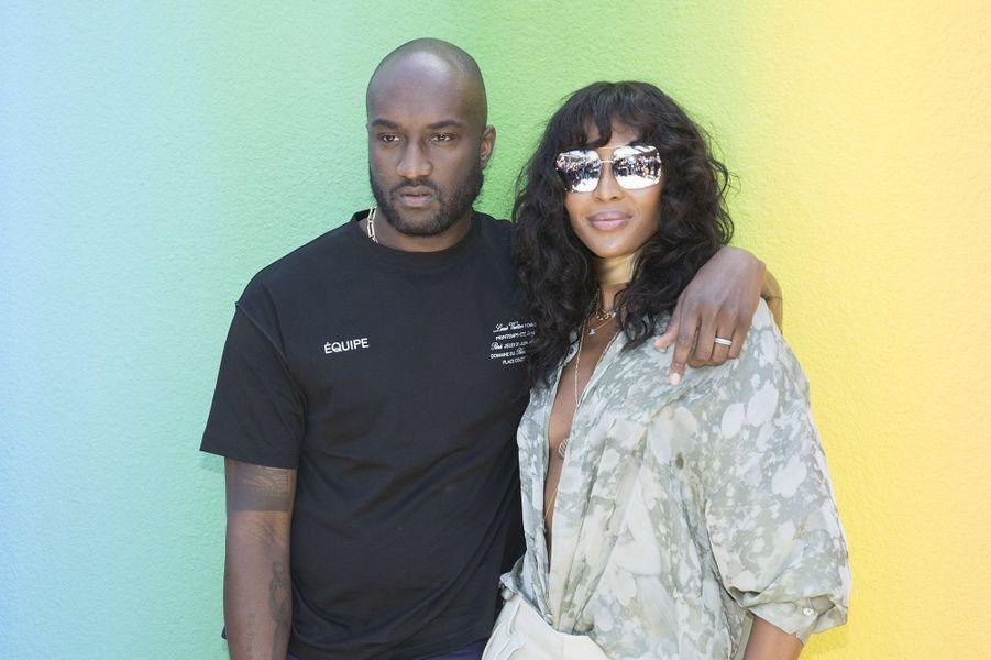 Virgil Abloh et Naomi Campbell au défilé homme Louis Vuitton jeudi 21 juin à Paris