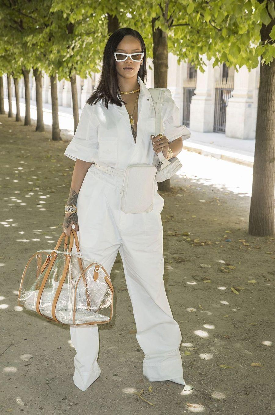 Rihanna au défilé homme Louis Vuitton jeudi 21 juin à Paris