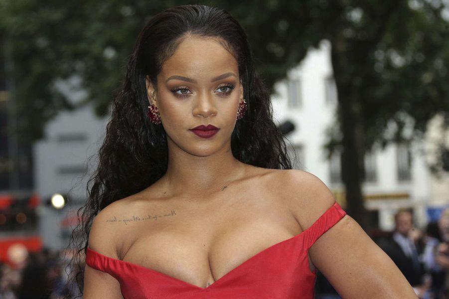 Rihanna à l'avant-première de Valérian et la Cité des mille planètes, à Londres le 24 juillet 2017.