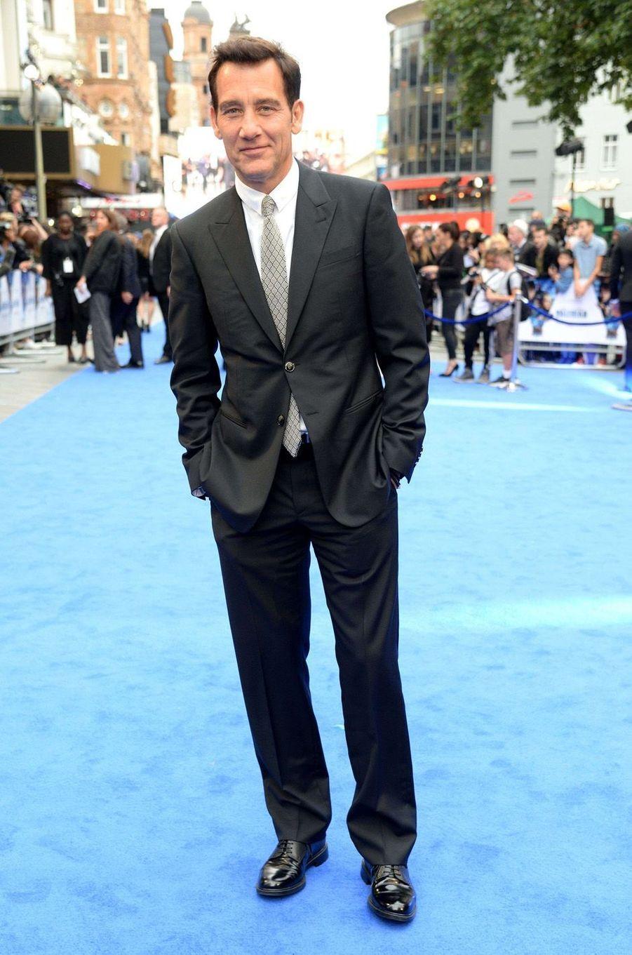 Clive Owenà l'avant-première de Valérian et la Cité des mille planètes, à Londres le 24 juillet 2017.