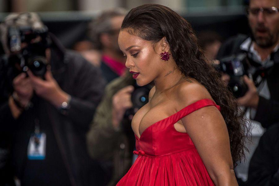 Rihannaà l'avant-première de Valérian et la Cité des mille planètes, à Londres le 24 juillet 2017.