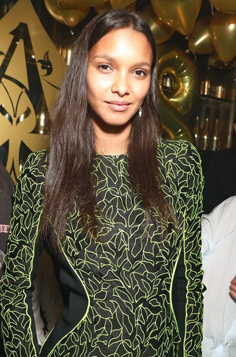 Joan Smalls à l'Arc lors de la Fashion Week parisienne.