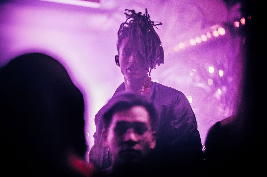 Jaden Smith à l'Arc lors de la Fashion Week parisienne.