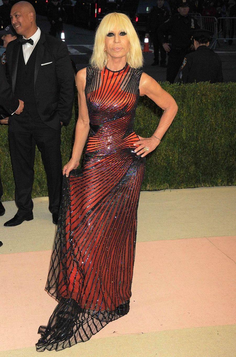 Donatella Versace au MET Gala 2016