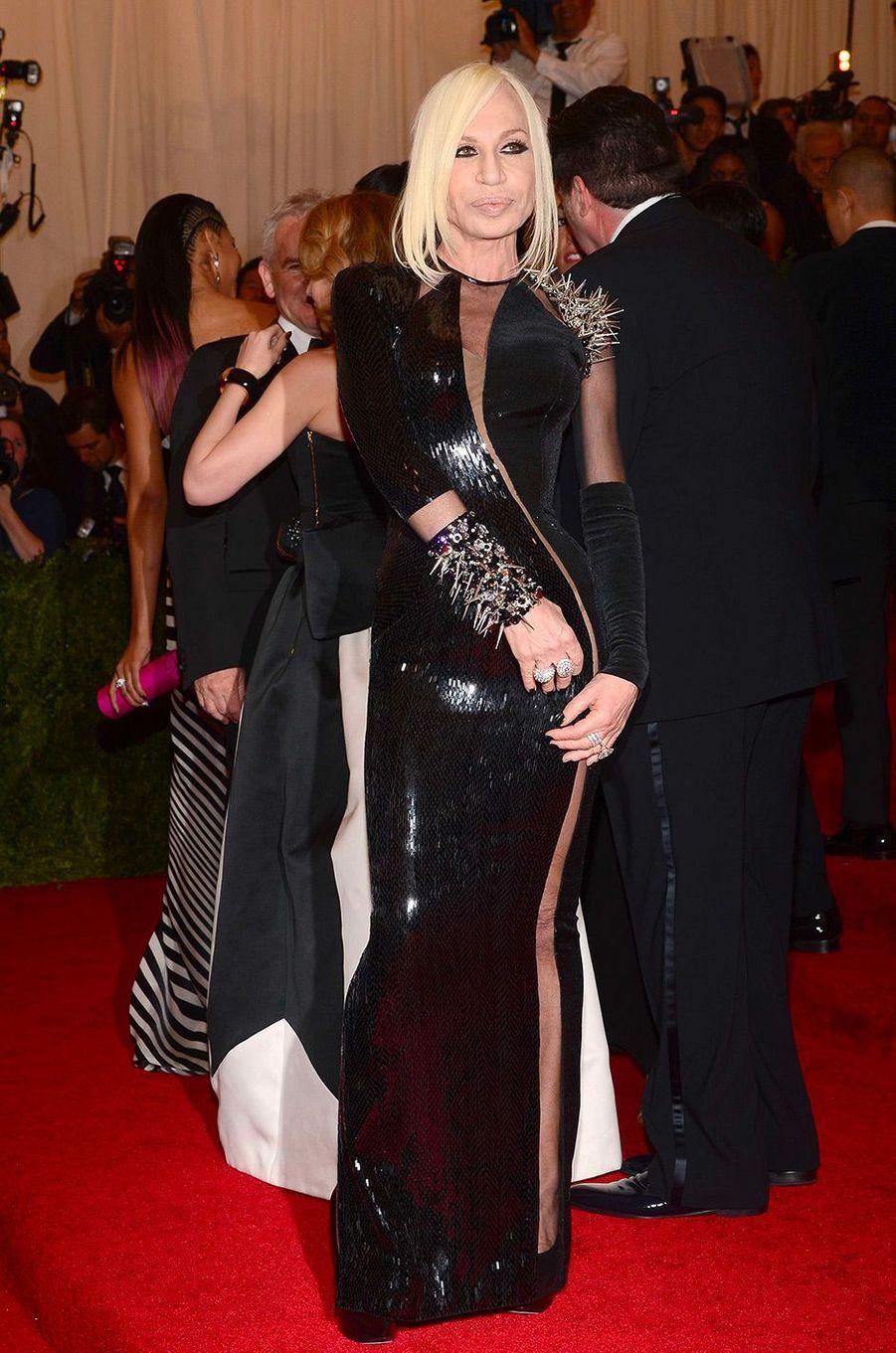 Donatella Versace au MET Gala 2013