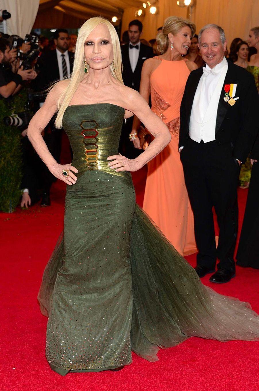Donatella Versace au MET Gala 2014