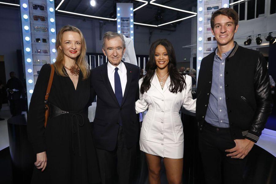 Delphine Arnault, Bernard Arnault, Rihanna et Alexandre Arnaultaulancement de la première collection Fenty à Paris le 22 mai 2019
