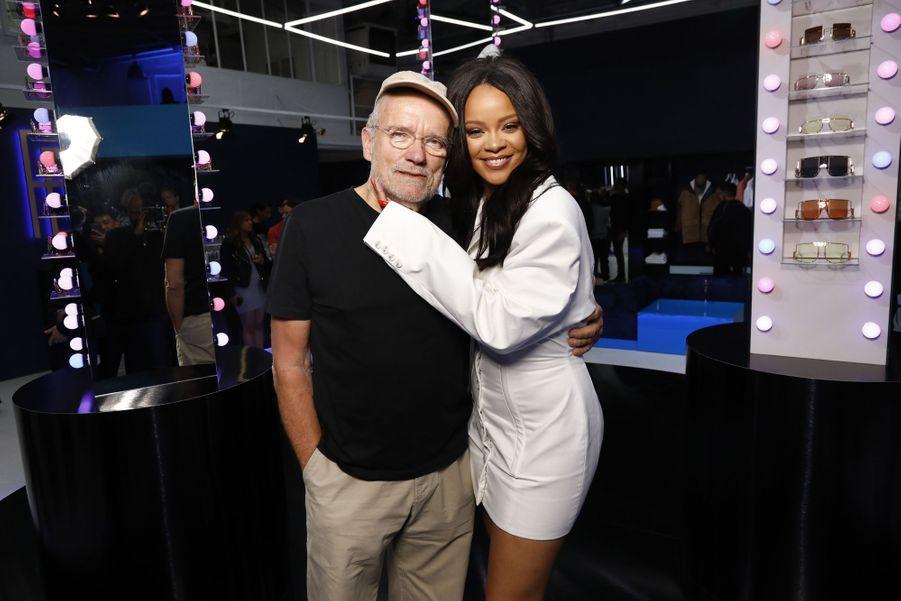 Peter Lindbergh et Rihannaaulancement de la première collection Fenty à Paris le 22 mai 2019