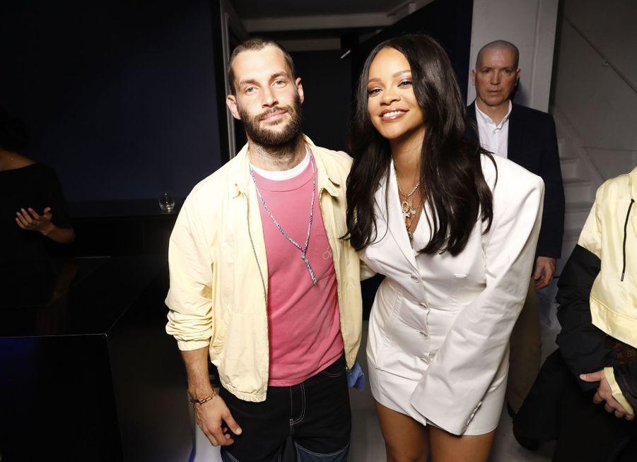 Simon Jacquemus et Rihannaaulancement de la première collection Fenty à Paris le 22 mai 2019