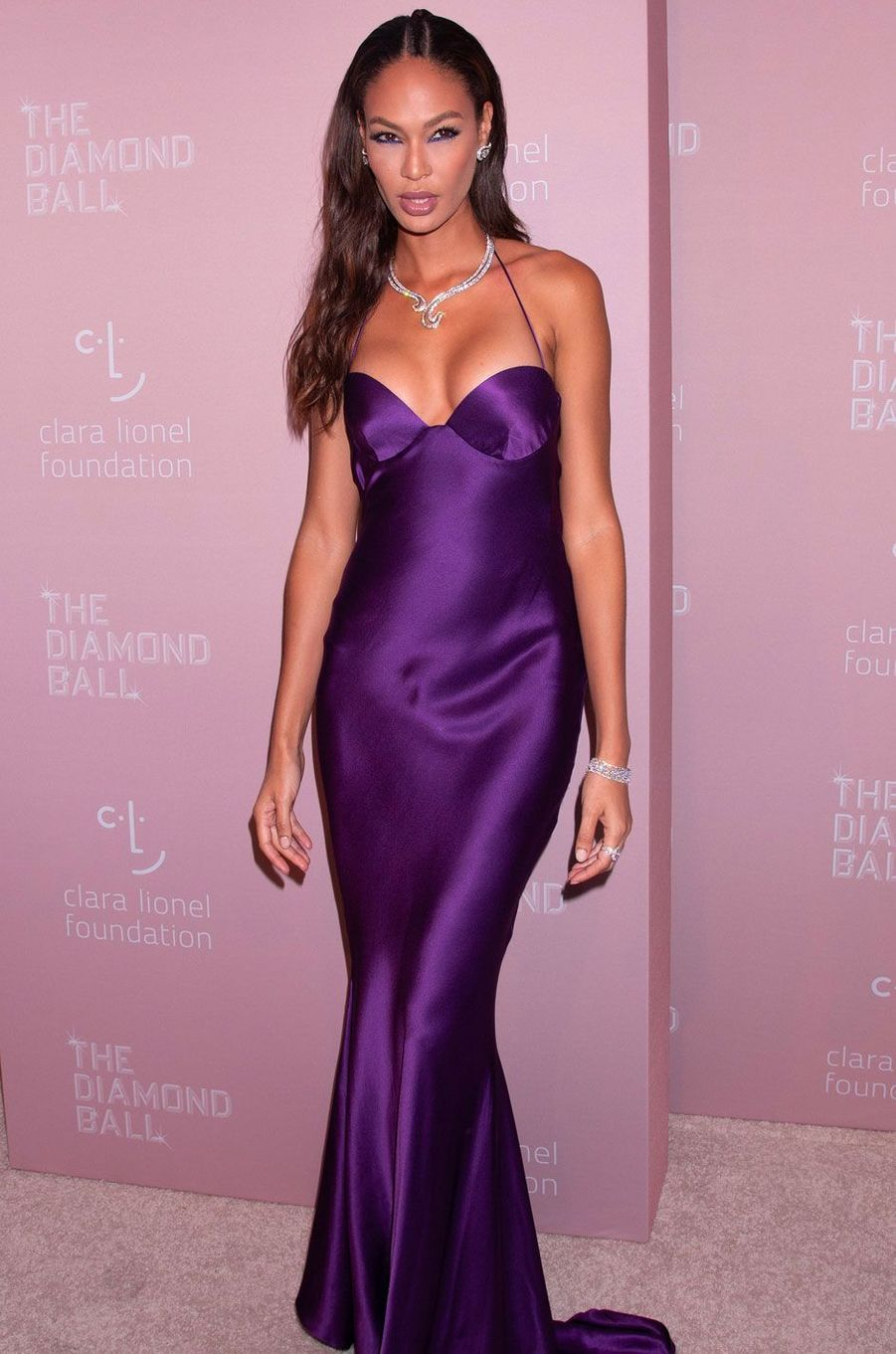 Joan Smalls au Diamond Ball, à New York le 13 septembre 2018