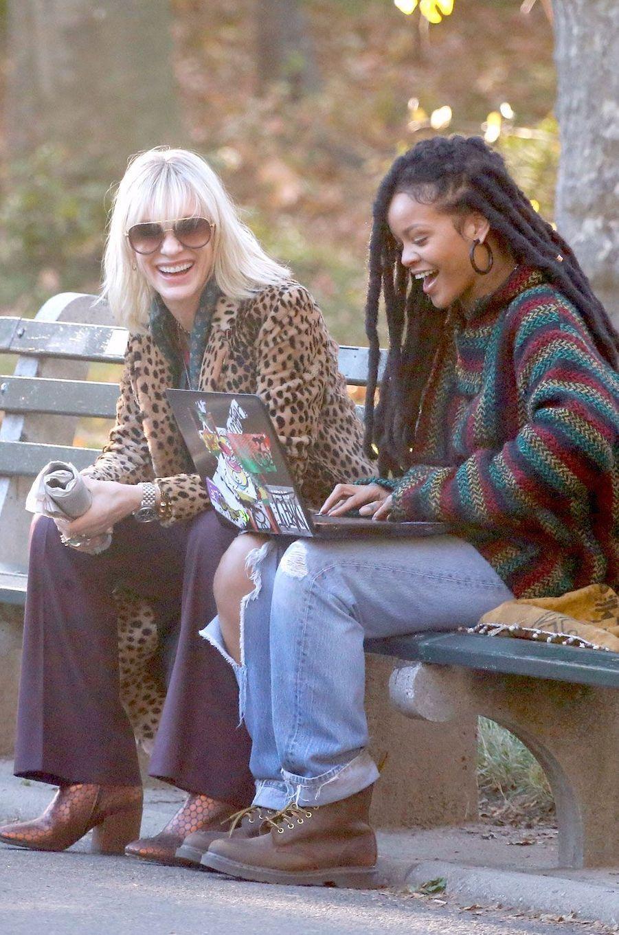 """Cate Blanchett et Rihanna sur le tournage de """"Ocean's Eight"""""""