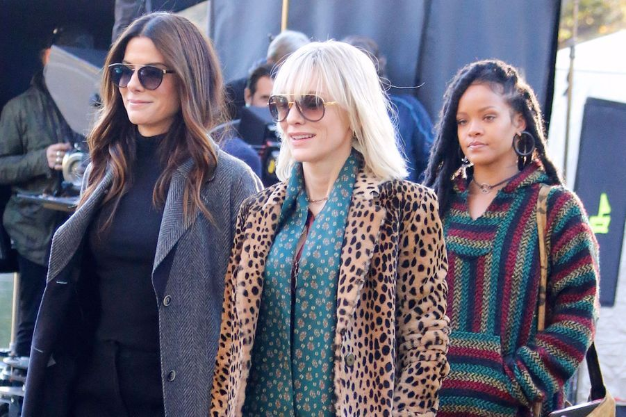 "Sandra Bullock, Cate Blanchett et Rihanna sur le tournage de ""Ocean's Eight"""