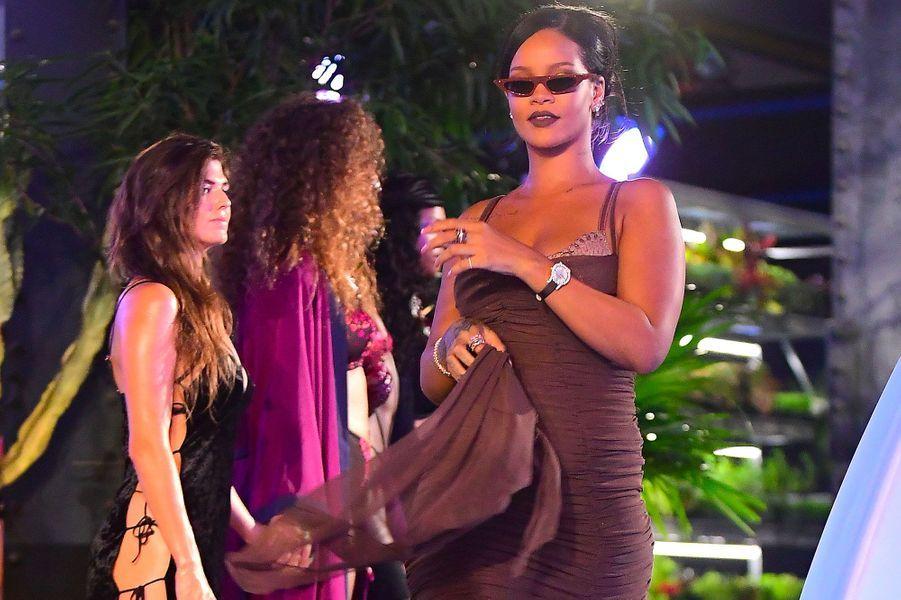 Rihanna au défilé Savage x Fenty, à New York le 12 septembre 2018