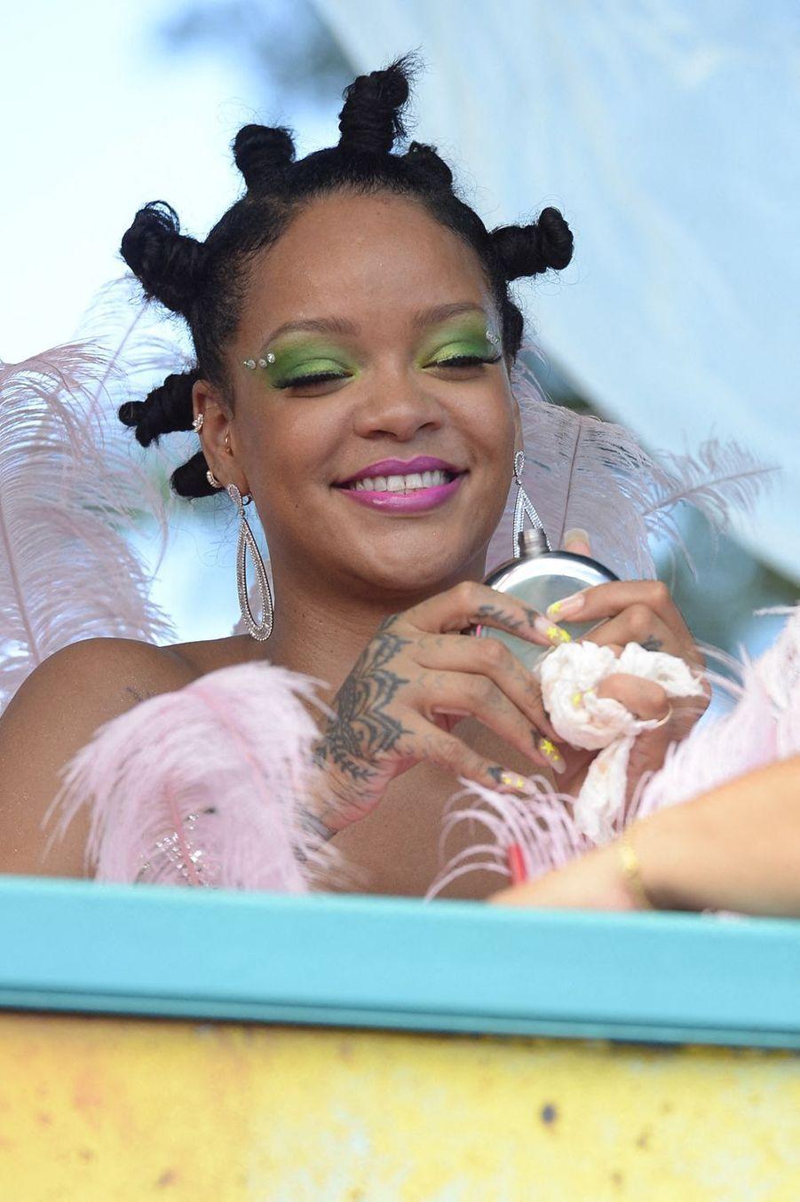 Rihanna àBridgetown, à la Barbade, le 5 août 2019