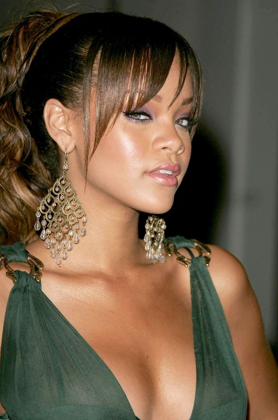 Rihanna aux World Music Awards à Los Angeles en août 2005