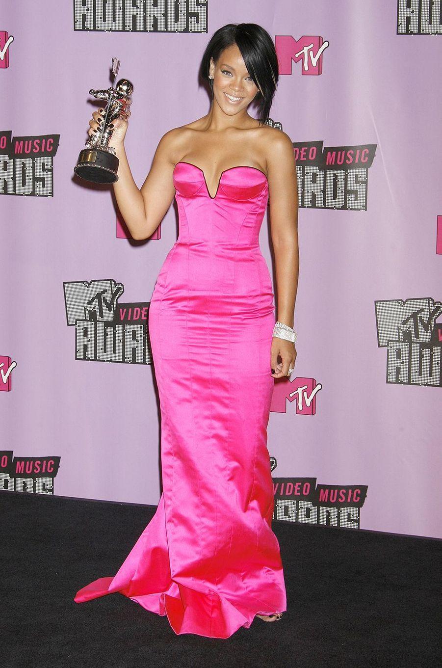 Rihanna aux MTV Video Music Awards à Las Vegas en septembre 2007