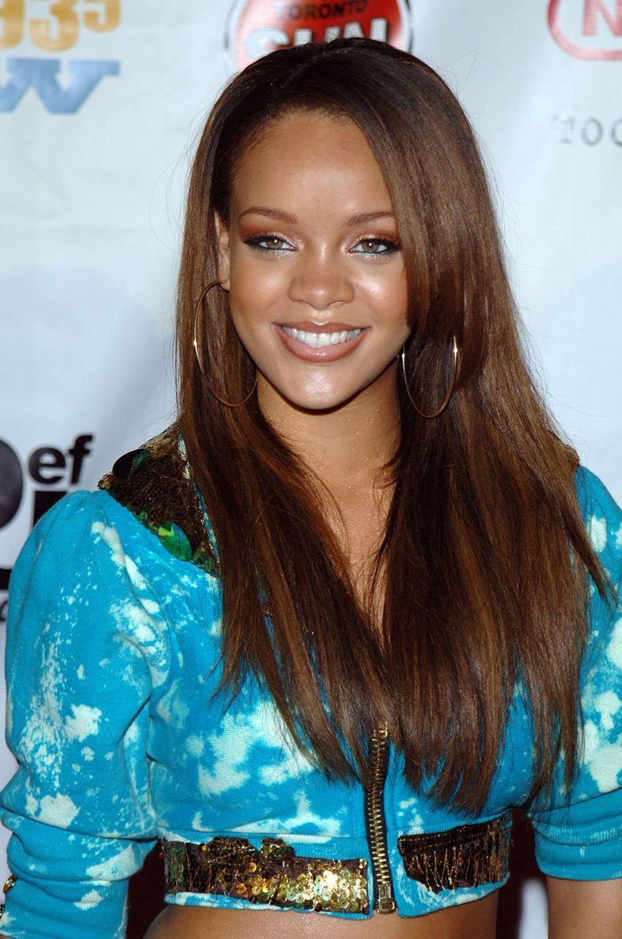Rihanna lors d'un événement organisé par Jay-Z et son label Def Jam en juillet 2005