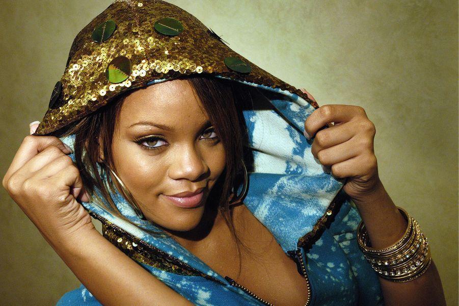 Rihanna lors d'un shooting en Allemagne en 2005