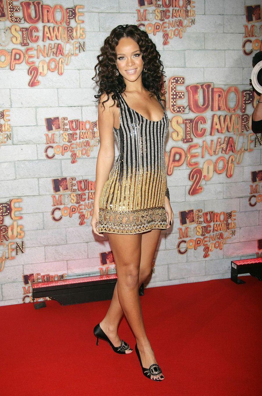 Rihanna aux MTV Europe Music Awards à Copenhague en novembre 2006