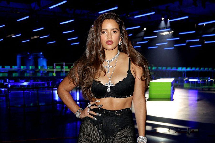 Un mannequindéfile pour la marque de lingerie de Rihanna Savage x Fenty, octobre 2020