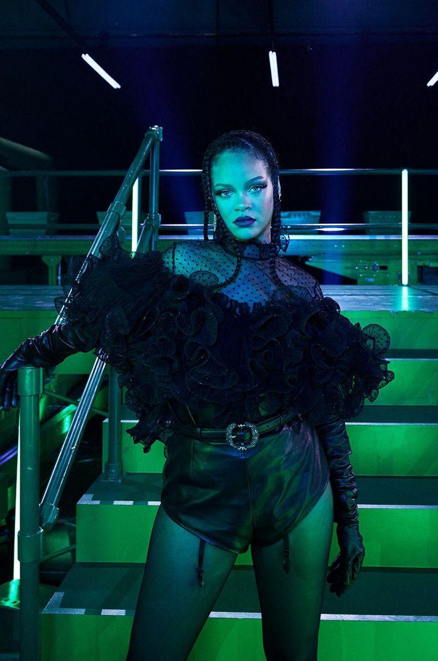 Rihanna au défilé de sa marque Savage X Fenty, diffusé le 2 octobre 2020