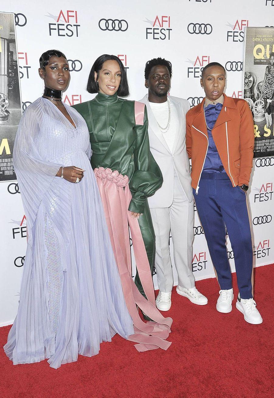 Jodie Turner-Smith, Melina Matsoukas, Daniel Kaluuya et Lena Waitheà la première du film «Queen & Slim» lors de l'AFI Fest à Los Angeles le 14 novembre 2019