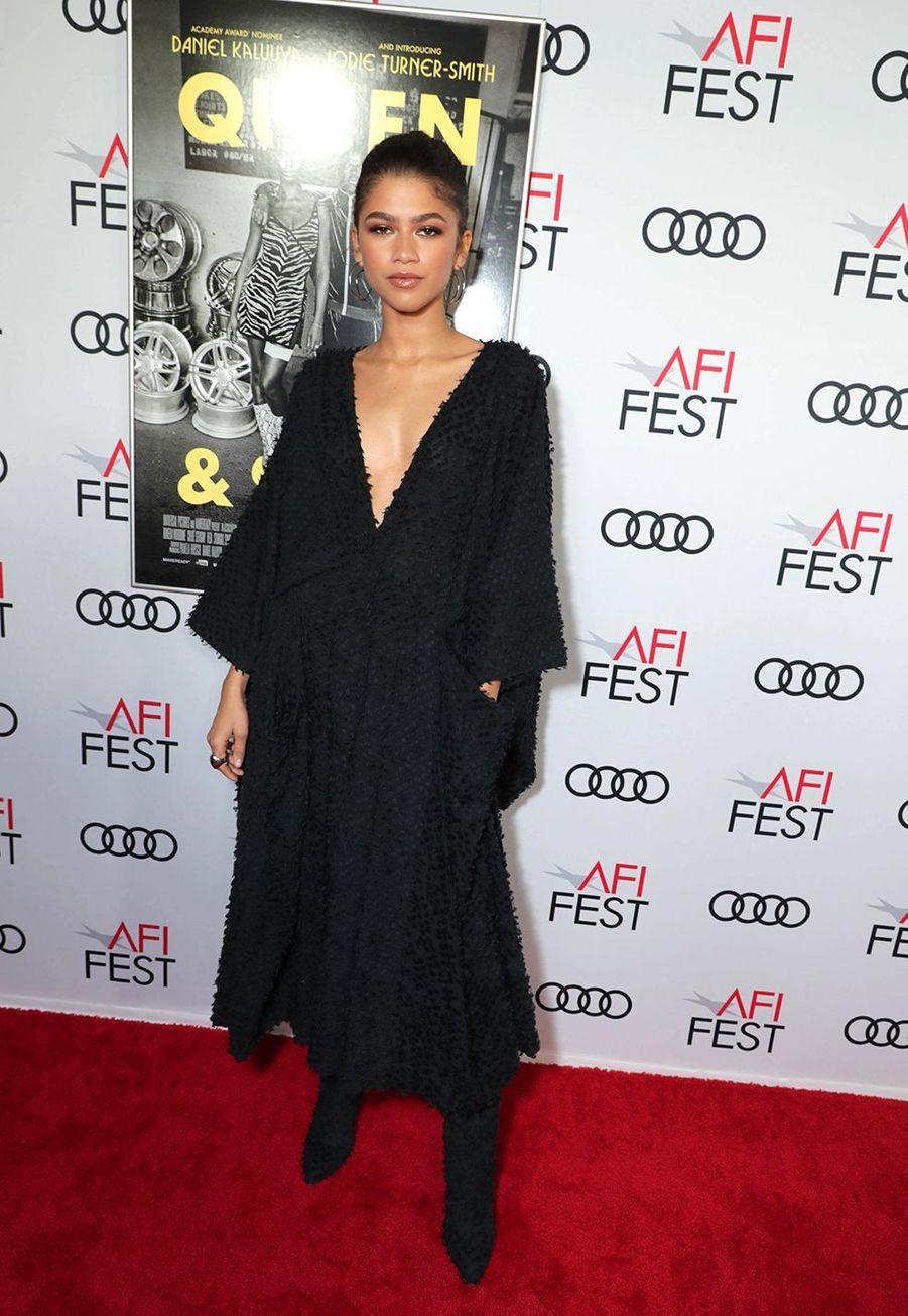 Zendaya(en robeImane Ayissi) à la première du film «Queen & Slim» lors de l'AFI Fest à Los Angeles le 14 novembre 2019