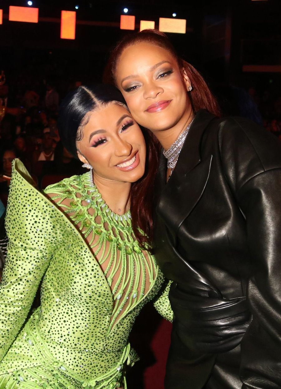 Cardi B et Rihanna aux BET Awards à Los Angeles le 23 juin 2019