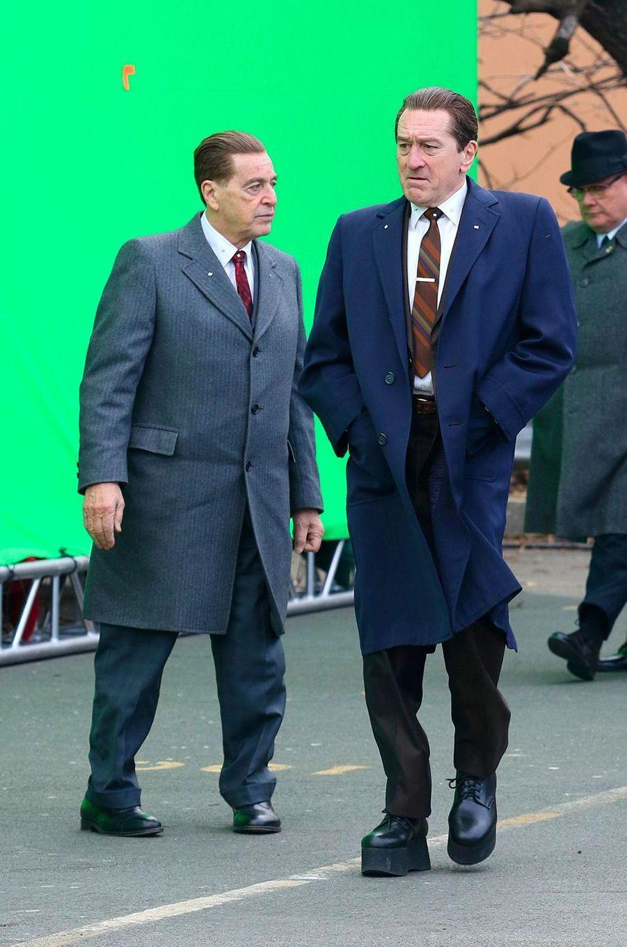"""Al Pacino et Robert de Niro sur le tournage de """"The Irishman"""" à New York"""