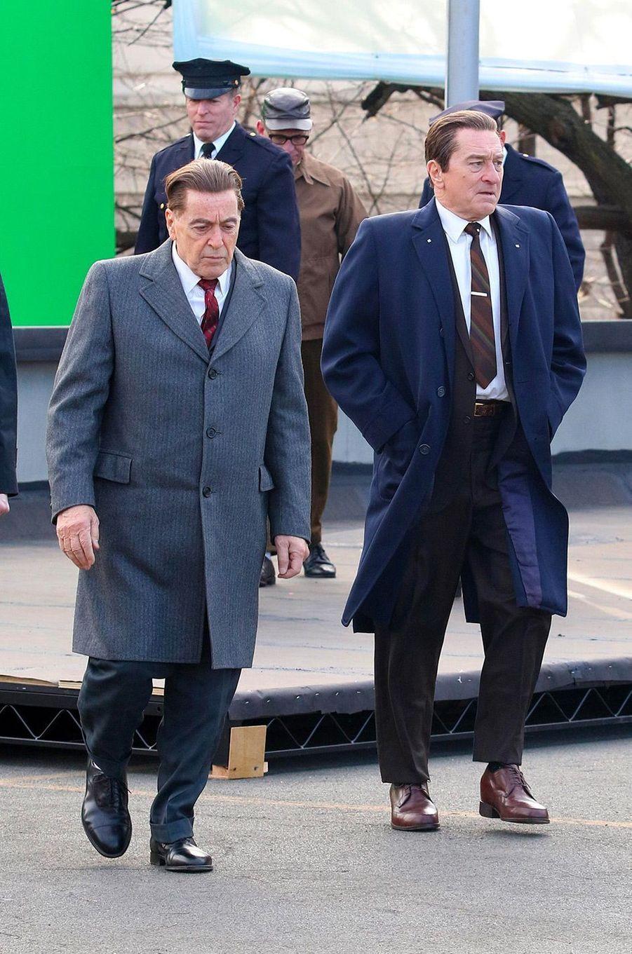 """Al Pacino et Robert de Niro sur le tournage de """"The Irishman"""" de Martin Scorsese"""