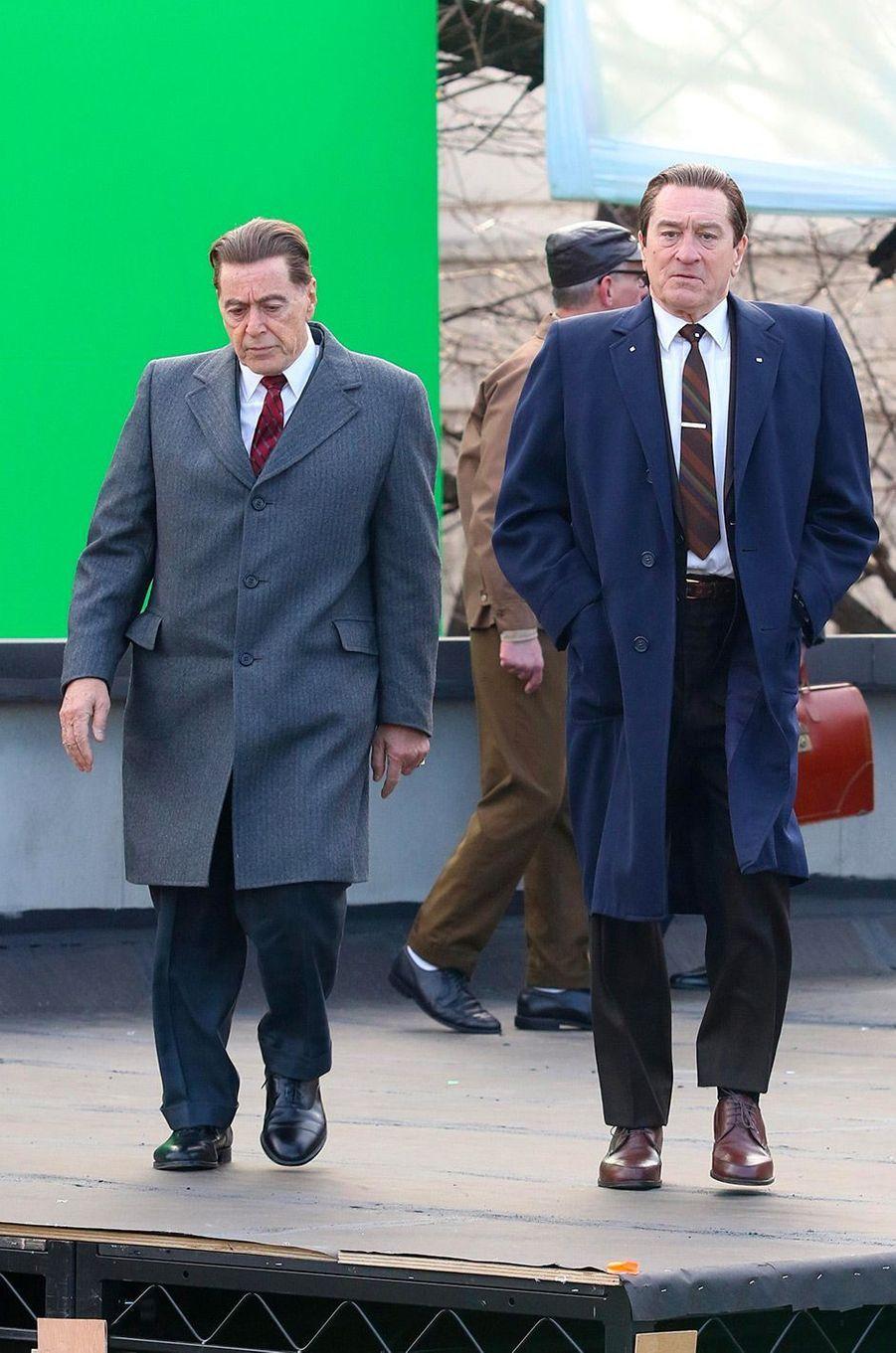 "Al Pacino et Robert de Niro sur le tournage de ""The Irishman"""
